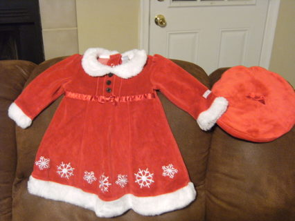 free small wonders brand mrs claus christmas dress for 6 9 month