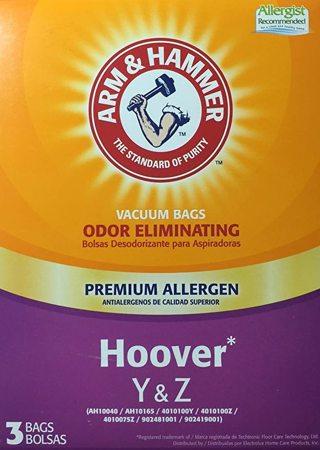Arm & Hammer Premium Allergen Odor Eliminating Hoover Type Y & Z Vacuum Cleaner bags 3Pk 67978D