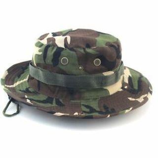 Wide Brim Unisex Fishing Hiking Outdoor Cap Boonie Cap Sun Camo Bucket Hat