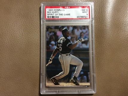 Free Graded Frank Thomas Insert 1993 Donruss Baseball Card Sg18