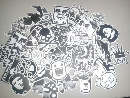 black and white sticker lot tiered auction random