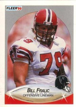 Bill Fralic 1990 Fleer Atlanta Falcons