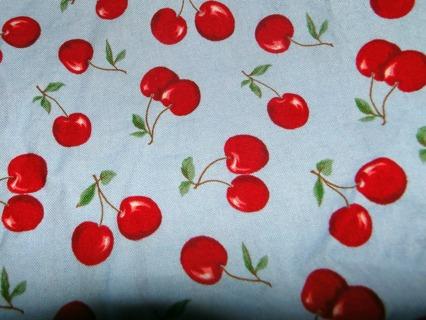 Pretty Retro Cherry-Print Fabric!!!