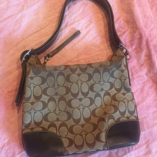 Coach Purse #6347 Canvas Leather Pretty