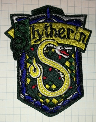 Harry House Slytherin  Embroidered Cloth Iron On Patches