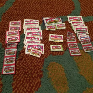 36 Box Tops for Education