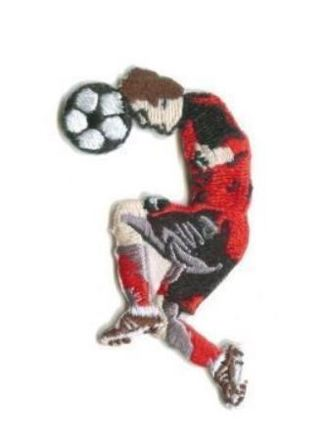 1 Sport Soccer IRON ON PATCH Soccer Player Head Butt Embroidered Clothing Accessory