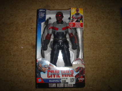 """Marvel's  Falcon Stands 11 1/2"""" Tall and Talks"""
