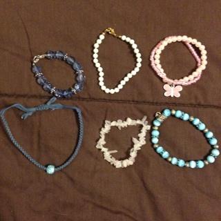 Lot Of 6 Girls Bracelets