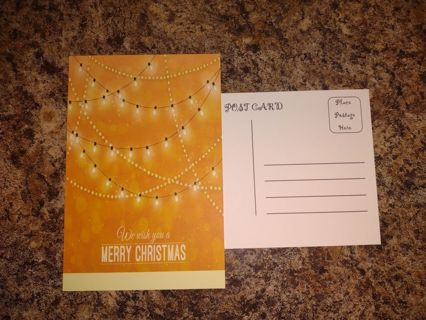 **** New Set Of ( 20 ) Merry Christmas Unused Postcards ****