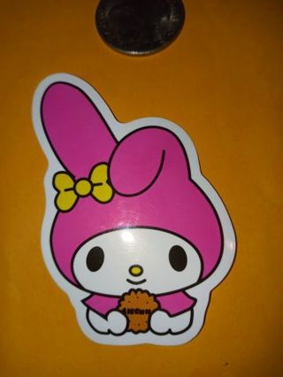 My melody Cute vinyl sticker no refunds regular mail only Very nice no lower