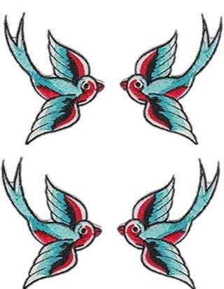 Lovely Swallow Embroidered Cloth iron on Patch