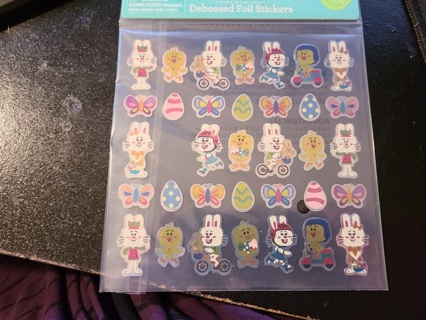 Shiney Easter Bunny & Chick Stickers