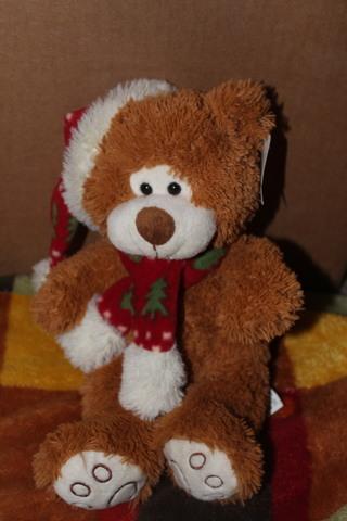 Plush Pals Stuffed Teddy Bear With Santa Hat & Winter Scarf 13 Inch Plush Bear With Tag