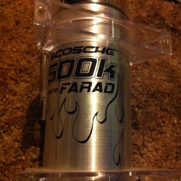 Free: scosche 500k micro FARAD (capacitor for car systems