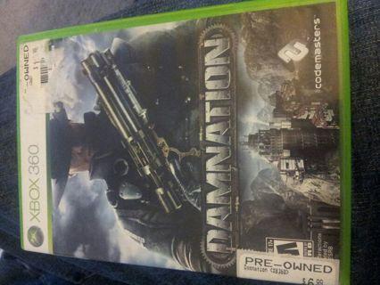 Xbox 360 game Damnation free shipping!!!