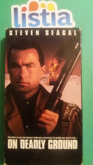 VHS movie  on deadly ground  free shipping