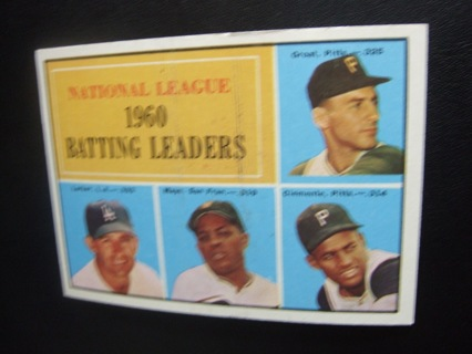 1960 leaders card. strikeout and batting.