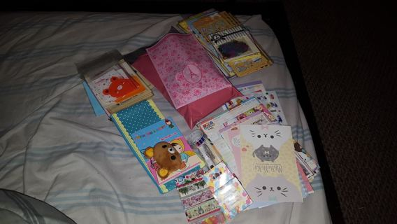 HUGE LOT of Kawaii Items!!  Stickers, Memos, Letters, AND TONS MORE!!