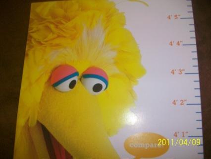 Free Growth Chart Wsesame Street Characters Elmo Big Bird Abby