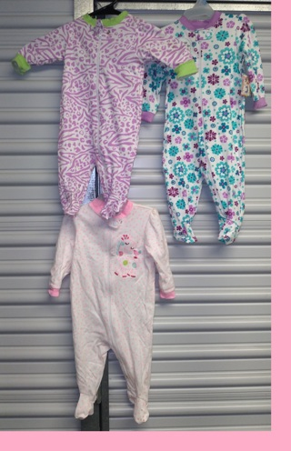 3 NEW Onesie 0-3-3-6 Months Outfits Baby Girl
