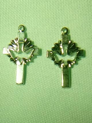 Two metal  charms