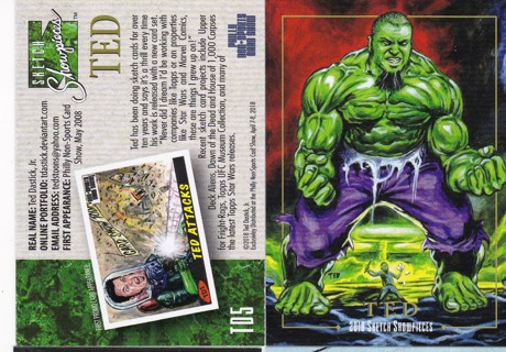 Free 2018 Ted Dastick Hulk Promo Card Philly Non Sports Card Show