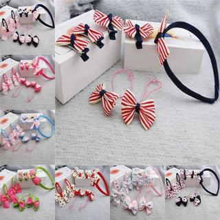 7Pcs/Set Baby Toddler Kids Girl's Bow Headwear Hairpin/Hairba