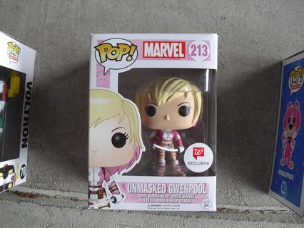 Funko Pop Marvel 213 Unmasked Gwenpool Exclusive Figure NIP