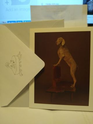 "UP ON, 2015 FROM ""GOOD DOGS ON NICE FURNITURE"" CARD W/ ENVELOPE (#11)"