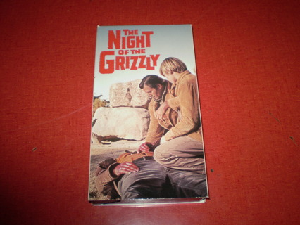 """""""The NIGHT of the GRIZZLY"""".....VHS"""