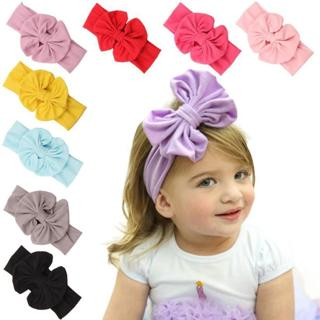 New 2019 Hair Accessories baby girl headband bow Big Bowknot Children Kids Head Wraps Accessories