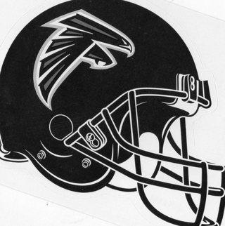2017 NFL 4x3 Team Helmet Sticker: Atlanta Falcons