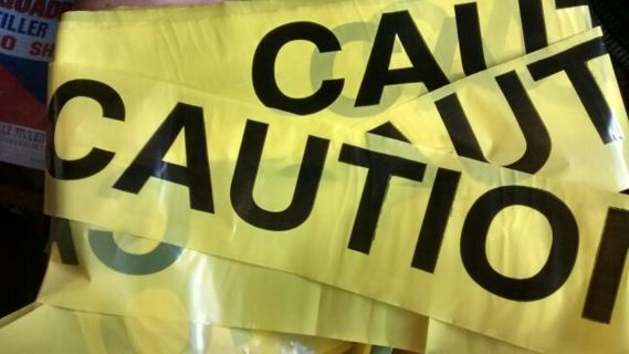 "100 Inches of ""CAUTION"" Ribbon"