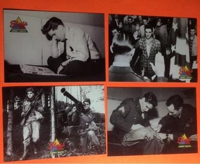 4 Elvis 1992 Army Days Cards!