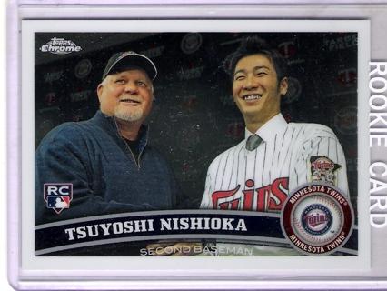 Tsuyoshi Nishioka 2011 Topps Chrome #171 Rookie Card