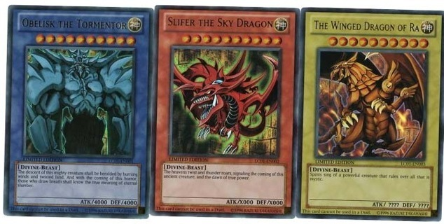 Yu-gi-oh and Pokemon lot one card only possible ANCIENT GOD CARDS OR MEW