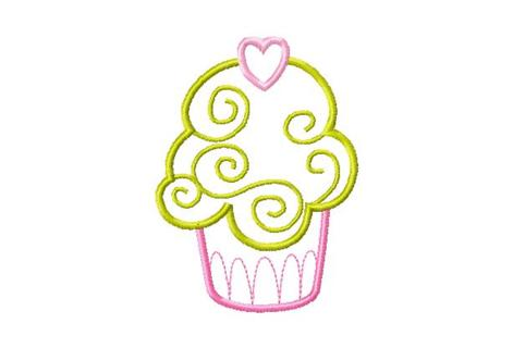 Free 4x4 Set Cupcake Cup Cakes Applique Machine Embroidery Designs