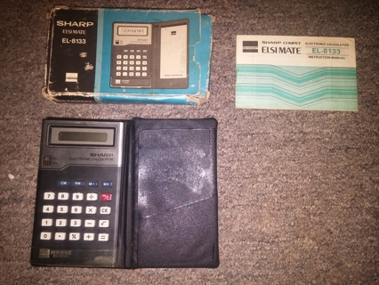Vintage Sharp Elsi Mate EL-8133 Electronic Calculator