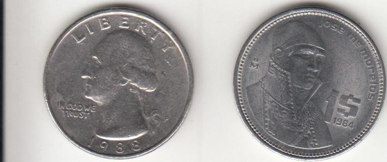 Mexico 1 Peso 1984 Coin