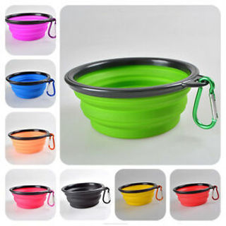 Foldable Dog Portable Silicone Bowls Water Dish Pet Travel Food Feeding Bowls