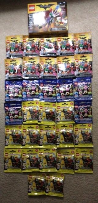 32 Lego blind bag auction +1 my LEGO Batman set + 4 loose mini figs