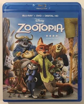 Disney Zootopia Blu-ray Only Movie - Mint Disc!