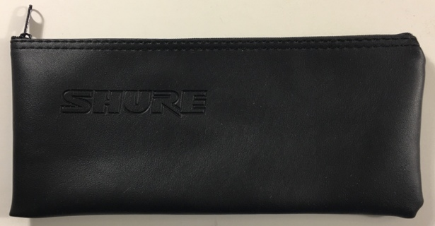 "Shure Wireless Handheld Microphone Zipper Case Pouch 10"" x 4.25"" Black - NEW"