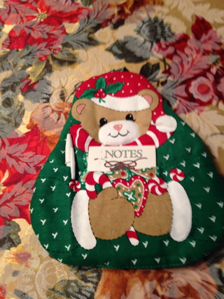 Christmas Beautiful New Bear Potholder with Note pad and pen