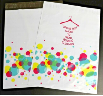 "**10** polymailers, 6"" x 9"" ""Life is too short to wear boring clothes"""