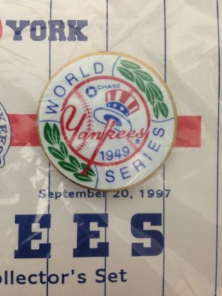 Vintage New York Yankees 1949 World Series Commemorative Collectible Pin