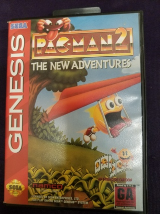 Pac-Man 2: The New Adventures Sega Genesis Video Game Cartridge with Case and Manual