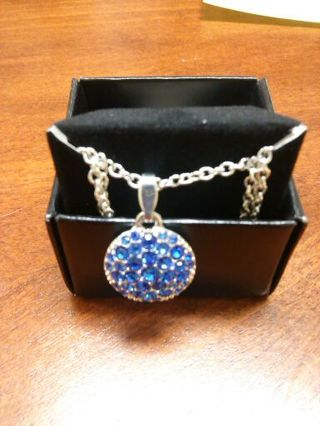 Avon Pave Birthstone Pendant Necklace - September