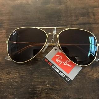 Rayban Brown Gold Aviator New Sunglasses